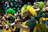 Students of the Green Machine, the student Pep Band, play at the Mason Homecoming 2012 basketball game at the Patriot Center, Fairfax Campus. Photo by Alexis Glenn/Creative Services/George Mason University