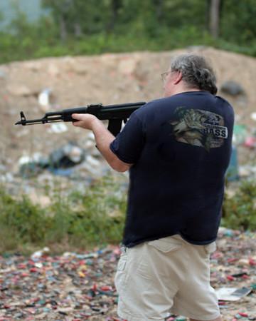 Rob Shooting - West Virginia Trip - August 2009