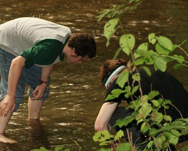 Hunting Crayfish - Yellow Breeches Creek -  Dillsburg, PA   7.2007