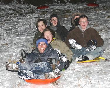 Night Tobogganing March 2009