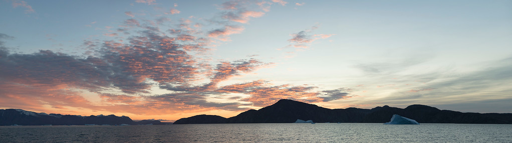 The drama of the early morning sun over the sound