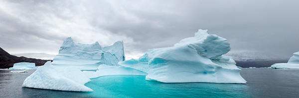 It almost looks to be an inviting pool to jump in, but that's the bottom of the iceberg just below the surface