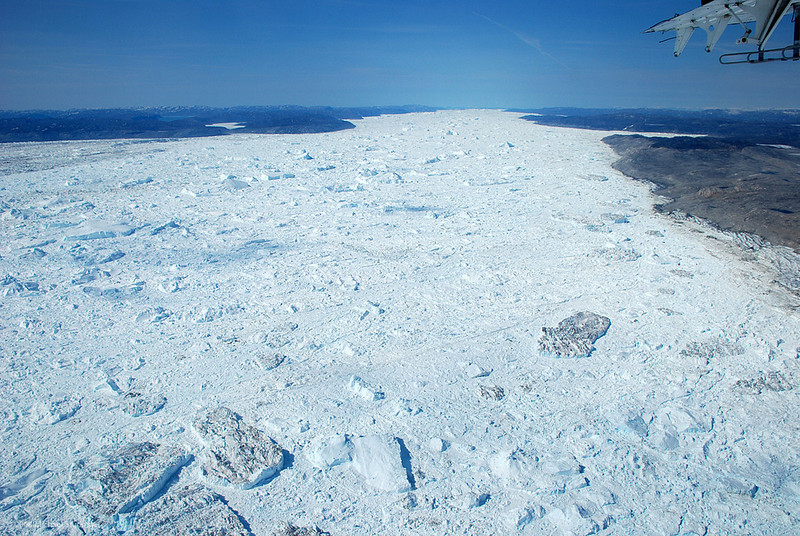 The 50-km-long Ilulissat Icefjord, a UNESCO world heritage site.