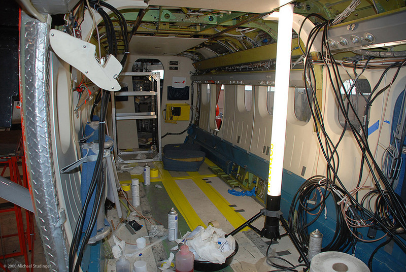 It looks a bit messy inside the main cabin but we are definitely getting there. Lots of cables.