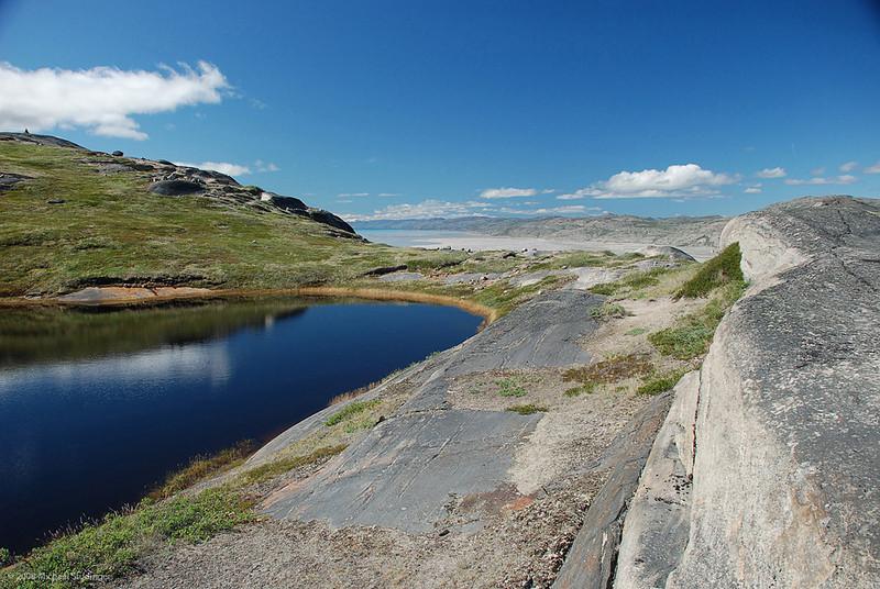 View of the Kangerlussuaq Fjord from Ravneklippen.