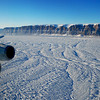 The IceBridge crew flew over Petermann Glacier in northern Greenland with NASA's DC-8 aircraft.