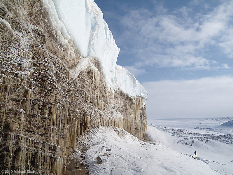 Ice wall at the margin of the Greenland Ice Sheet near Thule.