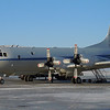 That's the NASA P-3B research aircraft on the ramp at Thule Air Base in northern Greenland.