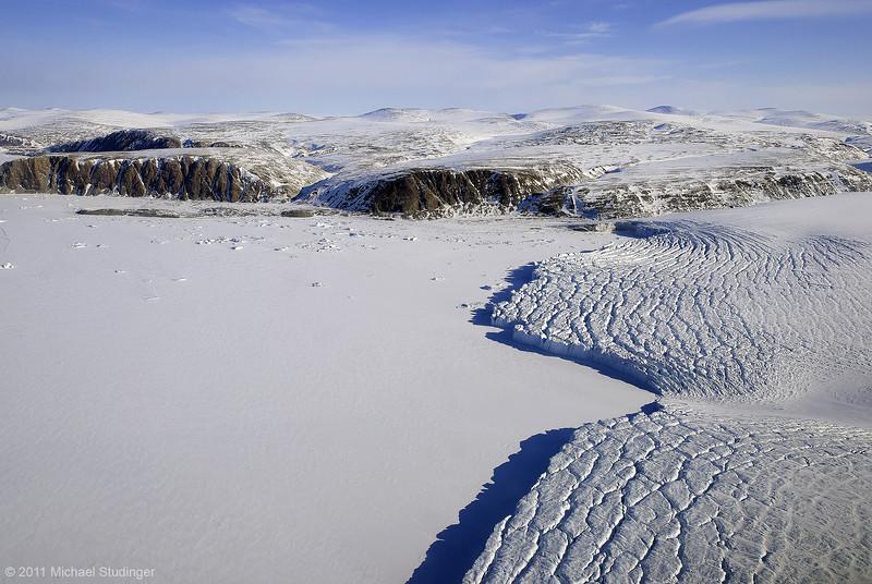 Calving front of Pitufik Glacier south of Thule.