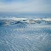 Russel Glacier near Kangerlussuaq form the air.