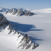 Mountains and glaciers on Ellesmere Island in the Canadian High Arctic.