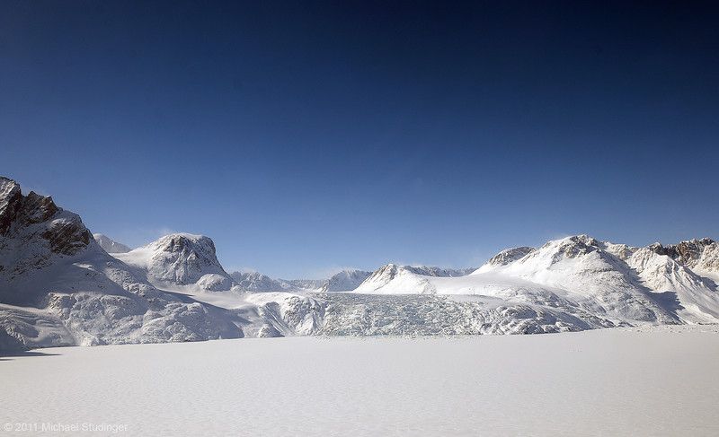 Blue skies and beautiful glaciers after a fresh snow fall.