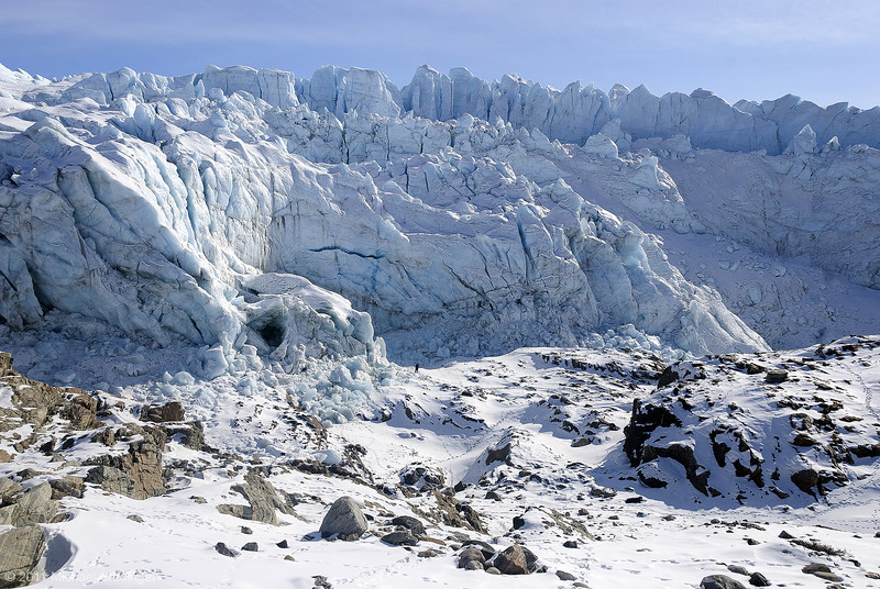 Russel Glacier near Kangerlussuaq. Russel Glacier is a land-terminating glacier.