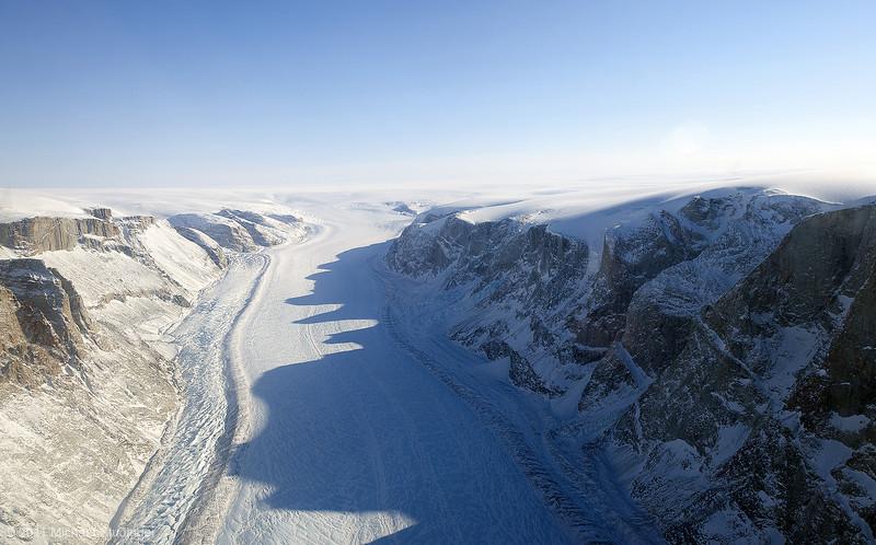 Glacier in northwest Greenland.