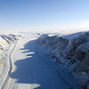 Glacier in northwest Greenland.