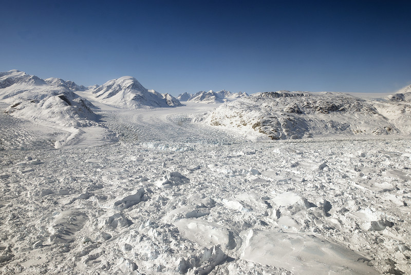 Ice on the move in southeast Greenland.