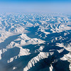 Flying over the Brooks Range, AK, on a clear day. We are en route from Fairbanks to a sea ice mission over the Beaufort Sea north of Alaska.