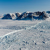 Glaciers on Ellesmere Island in the Canadian Arctic.