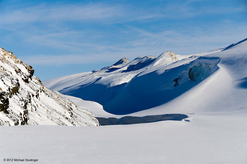 Lateral moraine at the Store Landgletscher also known as Great Land Glacier near Thule.
