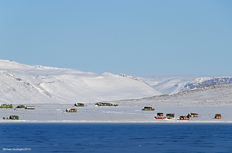 Dundas Village and the North Star Bay in Thule, Greenland.