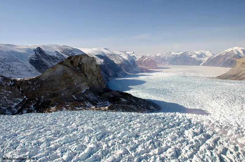Kangerdlugssup Glacier in central west Greenland.