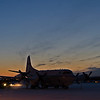 The NASA P-3B research aircraft is being prepared at Fairbanks for a science mission over the Beaufort and Chukchi Seas.