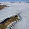 Rivers of ice. Ice is a plastic material that deforms under its own weight and flows.