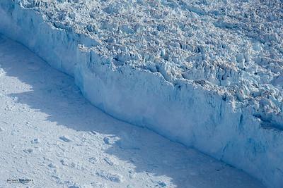 Calving front of Jakobshavn Glacier, Greenland