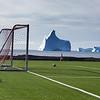 Disko Island soccer field.