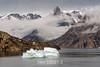 Grundtvigskirchen and O Fjord, Renland, from NE Milne Land, Scoresby Sund, Greenland