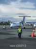 Icelandic air flight taxiing at Reykyavik domestic terminal, Iceland