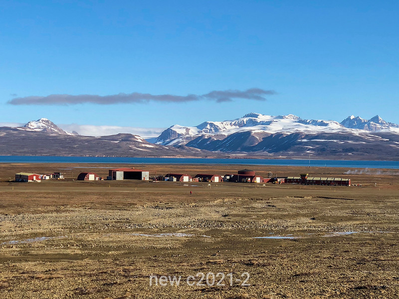 Nerlerit Inaat airport with Hurry Inlet and Liverpool Land, East Greenland