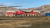Transfer helicopter to the Ittoqqortoormiit Heliport, East Greenland