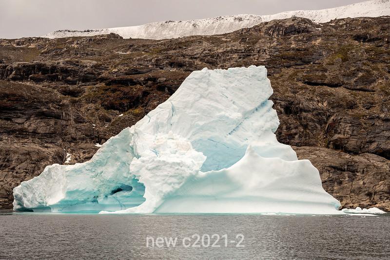 Old iceberg starting to break up, Scoresby Sund, East Greenland