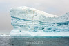Ice striations in an old iceberg off Denmark Island, Scoresby Sund, Greenland