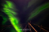 Aurora Borealis and ship's rigging