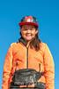 Girl in the bright orange jacket, Ittoqqortoormiit, Scoresby Sund, East Greenland