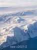 Flying towards the Roma Gletscher on the Volquaart von Kyst Coast, Scoresby Sund, East Greenland