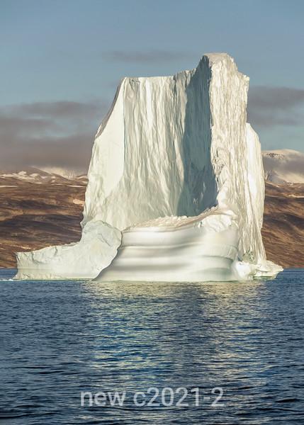 Iceberg with steep ice cliff, Hall Bredning, Scoresby Sund, Greenland