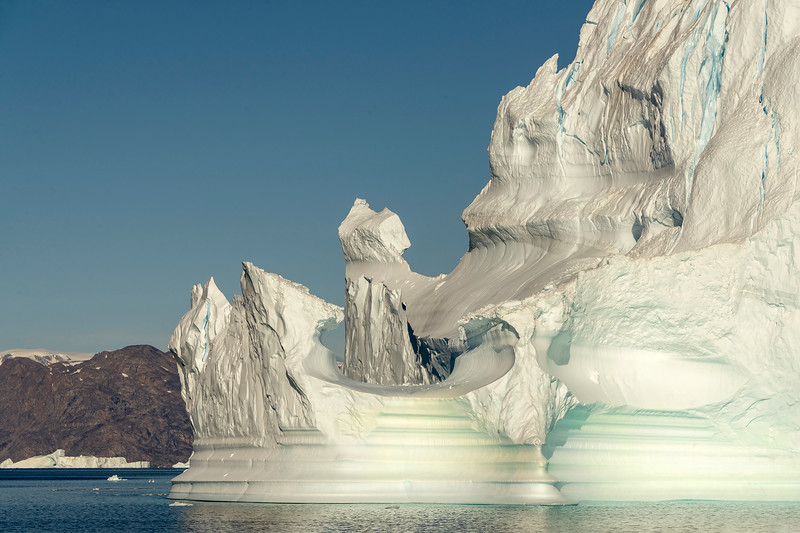 Close-up view of a disintegrating iceberg, Jameson Land, Hall Bredning, Scoresby Sund, Greenland