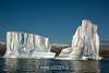 Eeroding icebergs, Vikingebugt Inlet, Hall Bredning, Scoresby Sund, Greenland