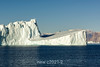 Jagged ice shadows on a smooth iceberg plane, Hall Bredning, Scoresby Sund, Greenland