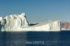 Jagged ice shadows on a smooth iceberg plane, Hall Bredning, Scoresby Sund, Greenland