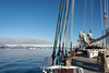 Heading towards the icebergs