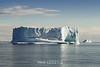 Square iceberg in Hall Breding, Scoresby Sund, East Greenalnd