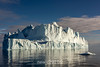 Late day large iceberg, Hall Bredning, Scoresby Sund, Greenland