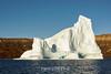 Large sculptured iceberg in bright sunshine, Hall Bredning, Scoresby Sund, Greenland