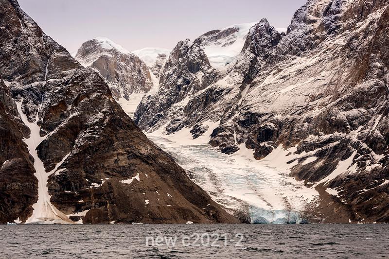 Arm on the Edward Bailey Gletscher on Renland, empyting into O Fjord, Scoresby Sund, Greenland