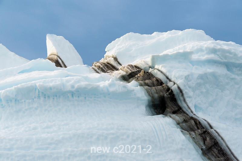 Medial moraine clsse-up, Rypefjord, Socresby Sund, Greenland