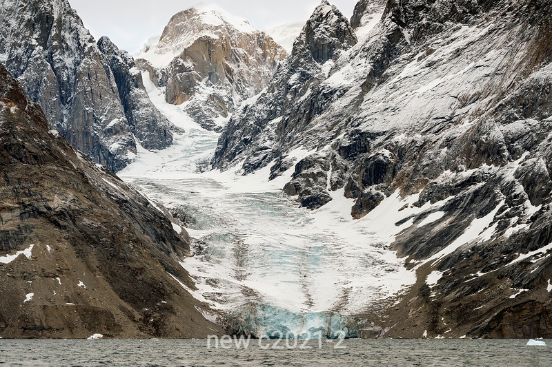 Glacier flowing into O Fjord, Scoresby Sund, East Greenland